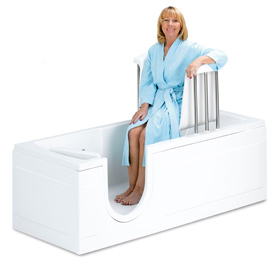 Op zoek naar seniorennet voor mensen met levenservaring en levenswijsheid - Foto in een bad ...