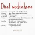 dieetweekschema