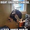 komaan pak die camera, ik wacht wel...