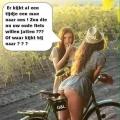 die kijkt zo naar je fiets...