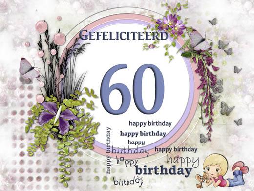 verjaardagswensen 60 jaar E cards: gratis wenskaarten en ecards versturen! Kerst, Pasen  verjaardagswensen 60 jaar